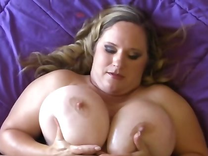 BBW's tits apologize the young man want to put dick between them