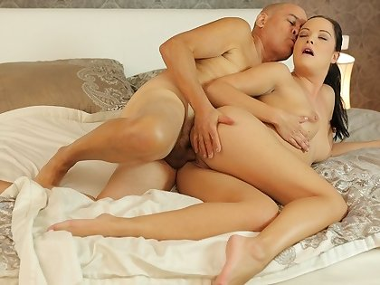 DADDY4K. Hungry looker penetrated with old penis