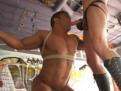 Gay maledome with two muscular hunks