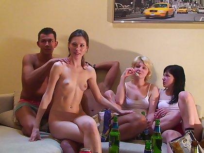 Aspen & Berta & Milana & Pandora in orgy movie in the matter of many hot babes plus endowed guys