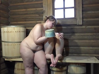 Irina fucking ass Natasha pail almost the bath!