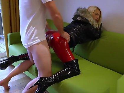 deutsch blonde latex anal fick