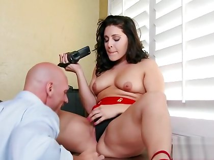 Hot brunette Gracie Glam fucked by Johnny Sins at place