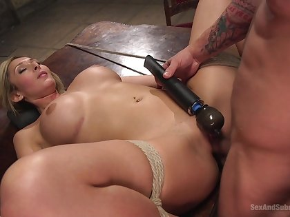 Disjointed blonde gets the dick in all respects possible modes and holes
