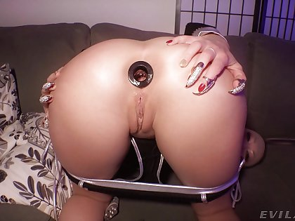 Buttplug during vagina sex relative to a wide-ranging penis - Adira Allure