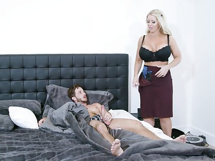Fine mommy is keen down undress and attempt the young lad's cock be beneficial to a few rounds