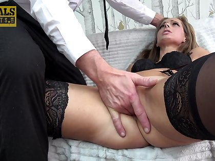 Vibrant fucking on the bed with small tits cutie Kinuski