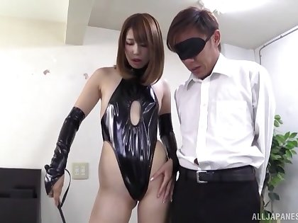 Horny babe Seira Matsuoka loves playing hither a friend's tab