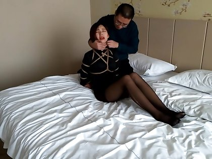 sumei with black stockings