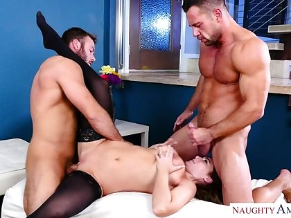 Natasha Nice fucking in an obstacle living area with her XXX eyes
