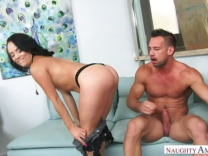 Kristina Rose-coloured fucking in the couch with her bubble in the final